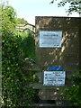 SK6344 : Footpath closure, Covid-19 by Alan Murray-Rust