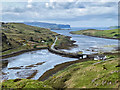 NG3538 : Bridge and causeway at the head of Loch Beag by John Allan