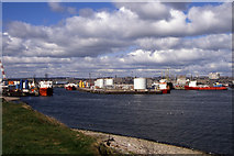 NJ9505 : Aberdeen Harbour and the River Dee by Colin Park