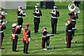 SP1339 : Brass band at the Cotswold Olimpicks by Philip Halling