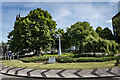 SJ8445 : Buzzard Statue, Newcastle Under Lyme by Brian Deegan