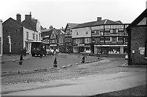 SJ6552 : Oat Market and Swine Market, Nantwich – 1963 by Alan Murray-Rust