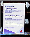 ST3088 : Temporary Opening Hours notice, NatWest, Newport city centre by Jaggery