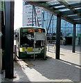 ST3188 : Fflecsi bus in Friars Walk bus station, Newport by Jaggery