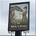 SK4968 : The sign of the Horse and Groom by David Lally