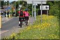 SU7670 : Cyclists on Rushey Way, Lower Earley by Simon Mortimer