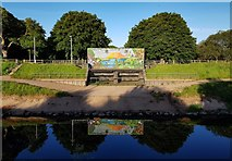 SJ8092 : River Mersey by Peter McDermott