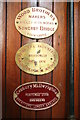 TQ3488 : Markfield Beam Engine & Museum - plaques on the engine by Chris Allen