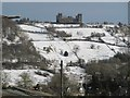 SK3059 : Riber Castle in snow by Paul Brown