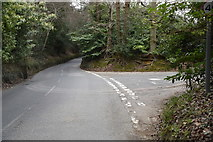 TQ6039 : Halls Hole Rd, Cornford Lane junction by N Chadwick