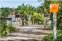 TQ2151 : Rectory Lane Level Crossing by Ian Capper