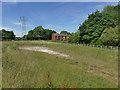 SE3522 : Drainage holding pond alongside Nellie Spindler Drive by Stephen Craven