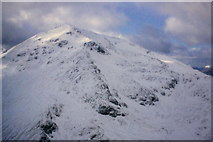 NN1666 : Sgurr a' Mhaim from the north ridge of An Gearanach by Richard Law