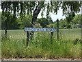 TM4189 : Ringsfield Road sign by Adrian Cable