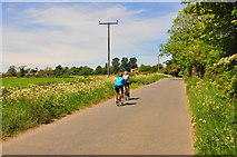 ST8180 : Cyclists, Littleton Drew Lane, Acton Turville, Gloucestershire 2020 by Ray Bird