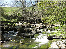 NY7346 : Waterfall on the River Nent below High Skelgill by Mike Quinn
