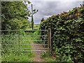SS8216 : Gate onto the Two Moor Way footpath from the lane by Rob Purvis