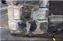 SK5802 : Benchmark on corner wall pier outside #337 Aylestone Road by Roger Templeman