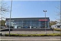 TQ5942 : Motorline Nissan (Closed), Dowding Way by N Chadwick
