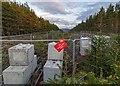 NH6736 : Pylon Line in Moor of Gask by valenta