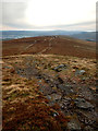 SD8495 : Looking south along the Pennine Way from Crag End Beacon by Andy Waddington