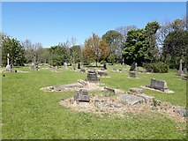 NZ2568 : Graves in the grounds of Gosforth Parish Church, Newcastle upon Tyne by Graham Robson