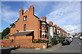 SP3279 : Northumberland Road houses at Waveley Road junction by Roger Templeman