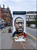 SJ8498 : George Floyd Mural, Stevenson Square by David Dixon