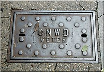 TG2309 : CNWD Meter  access cover in Magdalen Street by Evelyn Simak