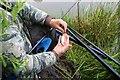 NO3601 : Fishing in Myreside Pond by Bill Kasman