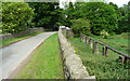 SE2205 : High Lane and a sewer pipebridge, Ingbirchworth by Humphrey Bolton