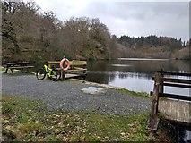 SH6441 : Llyn Hafod-y-llyn reservoir, taken from the dam by David Medcalf