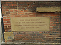 SE3033 : Dock Street, Leeds - datestone by Stephen Craven