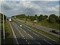 SE2227 : M62 east of Field Head Lane by Stephen Craven