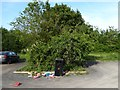 NZ0949 : Scattered rubbish, Lydgetts Junction Car Park by Adrian Taylor