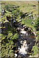 NY8118 : Waterfalls on river becoming Swindale Beck by Trevor Littlewood