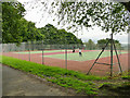 SE2632 : Western Flatts Cliff Park: tennis courts by Stephen Craven