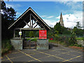 NY3704 : Entrance to church and cemetery, Ambleside by Chris Allen