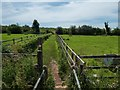 SK3614 : Public footpath at Packington by Oliver Mills