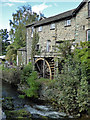 NY3704 : Stock Beck and waterwheel, Ambleside by Chris Allen
