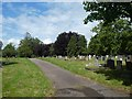 SX9493 : Contemporary graves, Exeter Higher Cemetery by David Smith