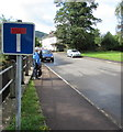 SO5417 : No Through Road sign, Old Monmouth Road, Whitchurch, Herefordshire by Jaggery