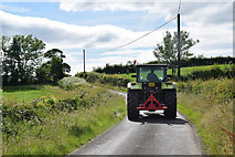H5366 : A passing tractor, Laragh by Kenneth  Allen