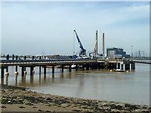 TQ6674 : PLA pier, Denton Wharf by Robin Webster