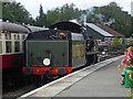 TQ3635 : Bluebell Railway - running round at Kingscote Station by Chris Allen
