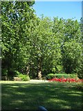 TQ3187 : Finsbury Park : Mackenzie Flower Garden exit by Julian Osley