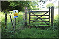 ST2396 : Bridleway gate at junction of bridleways by M J Roscoe