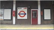 TQ0885 : Roundel, Ickenham Station by N Chadwick
