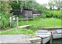TG3204 : Shed at Rockland St Mary Staithe by Evelyn Simak