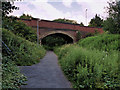SD7608 : Bridge over the Bradley Fold Cycleway by David Dixon